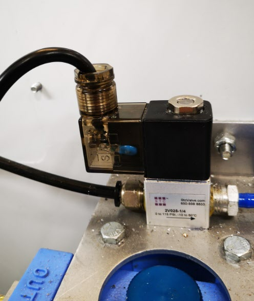 Fogbuster activation solenoid