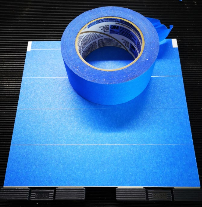 builders tape on Sindoh 3D printer bedplate