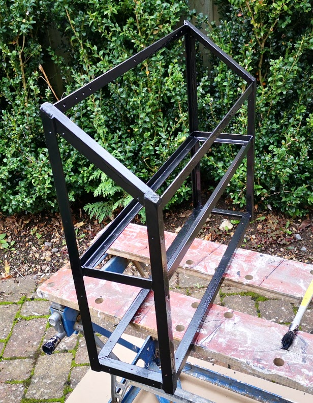 diesel heater angle iron frame