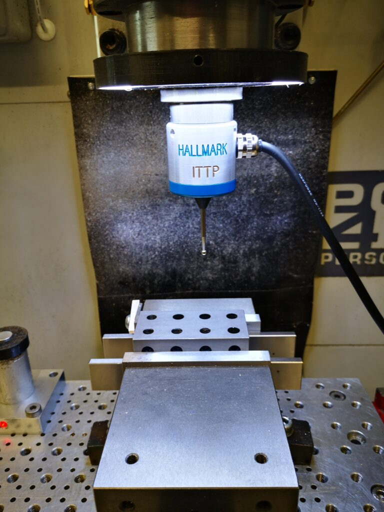 hallmark ittp cnc probe mounted on the tormach pcnc440