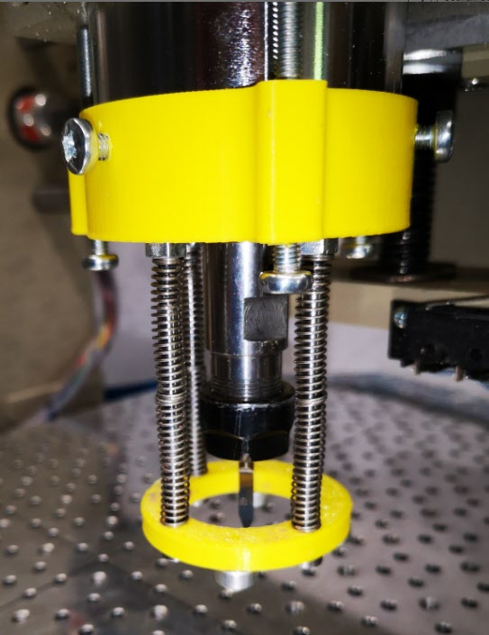 Pressure foot for the CNCEST3040 in place on the spindle