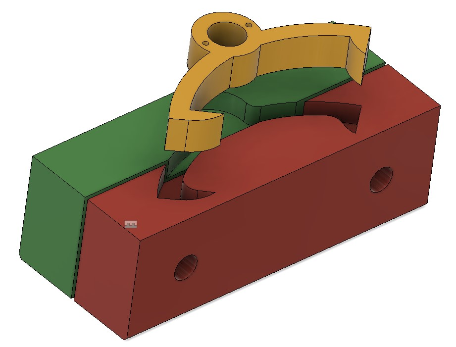 pictorial view of the pallet soft jaws to allow side #2 material to be removed